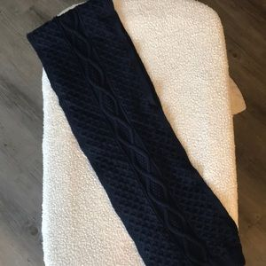 Navy Blue Knit Scarf NWOT